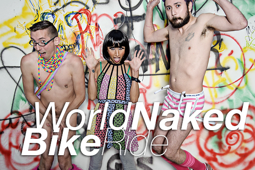 World Naked Bike Ride 10th anniversary in Chicago