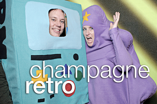 Champagne Retro Halloween at Beauty Bar