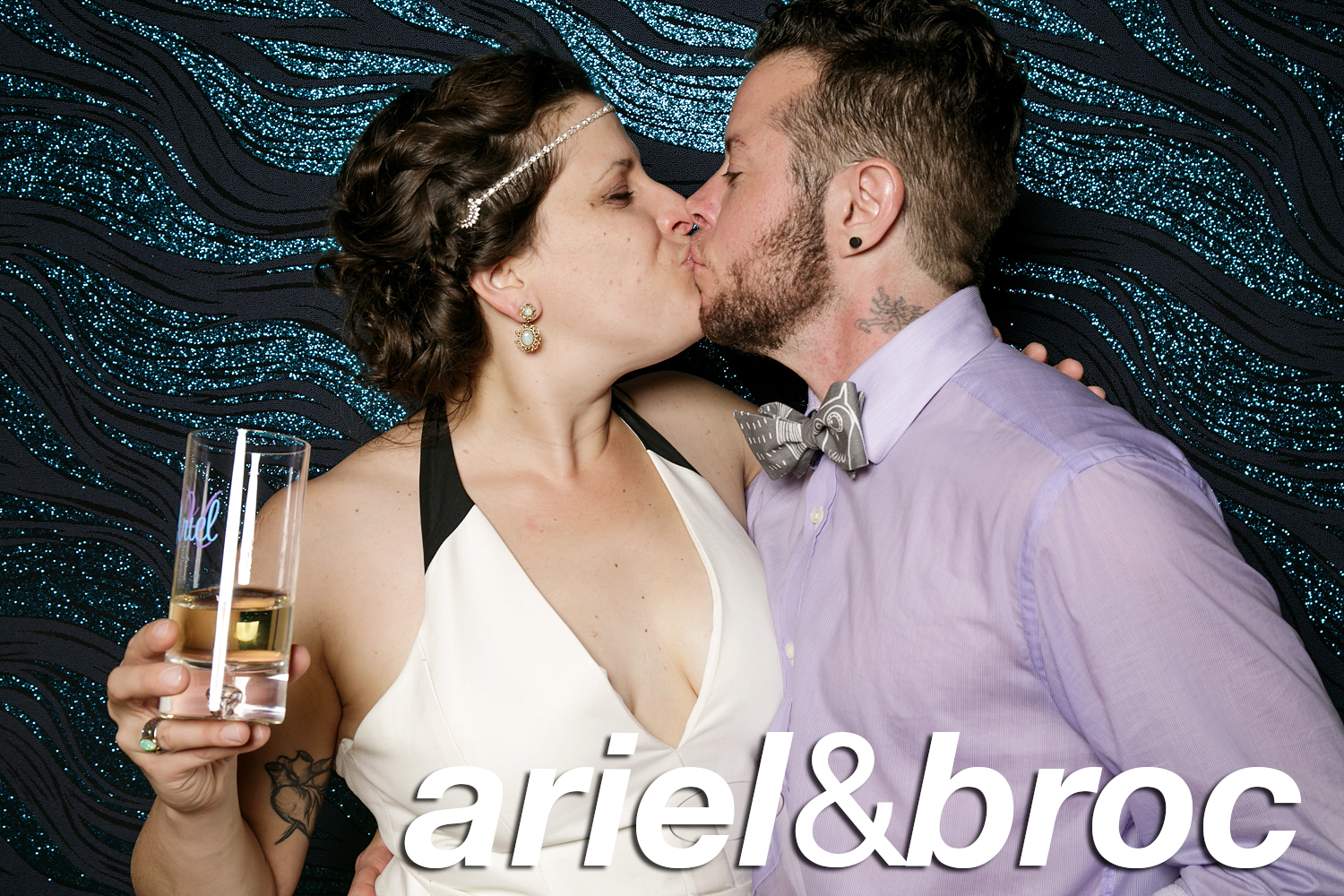 ariel and broc's wedding photo booth
