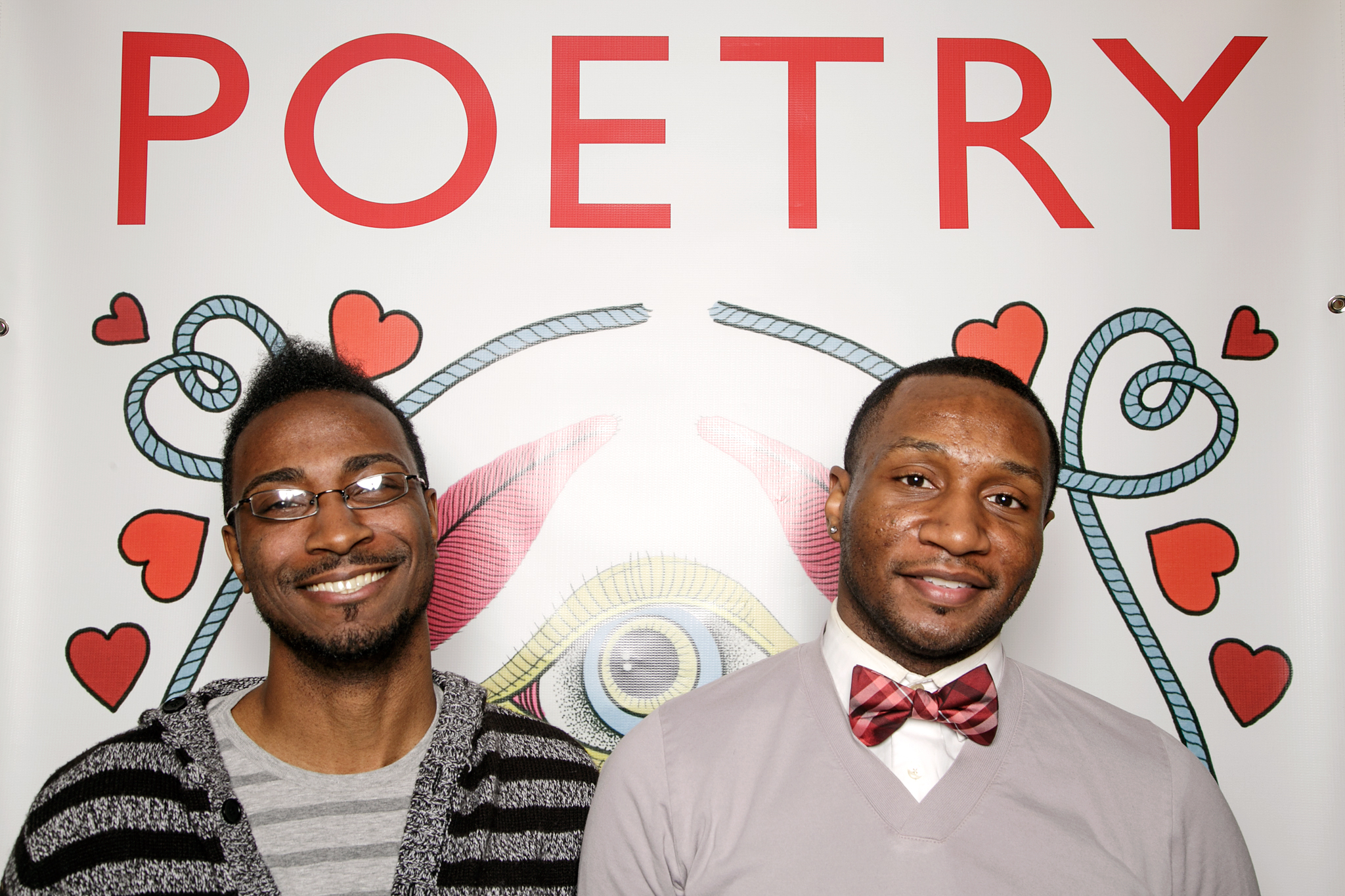 poetry wintertime party photo booth, january 2016