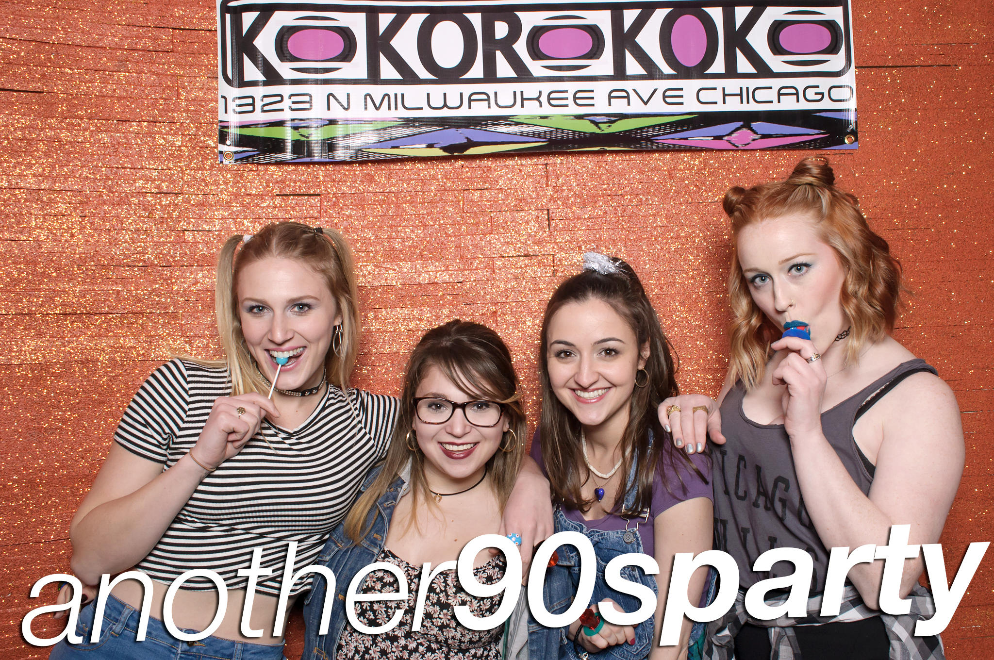another '90's party photobooth at beauty bar, january 2016