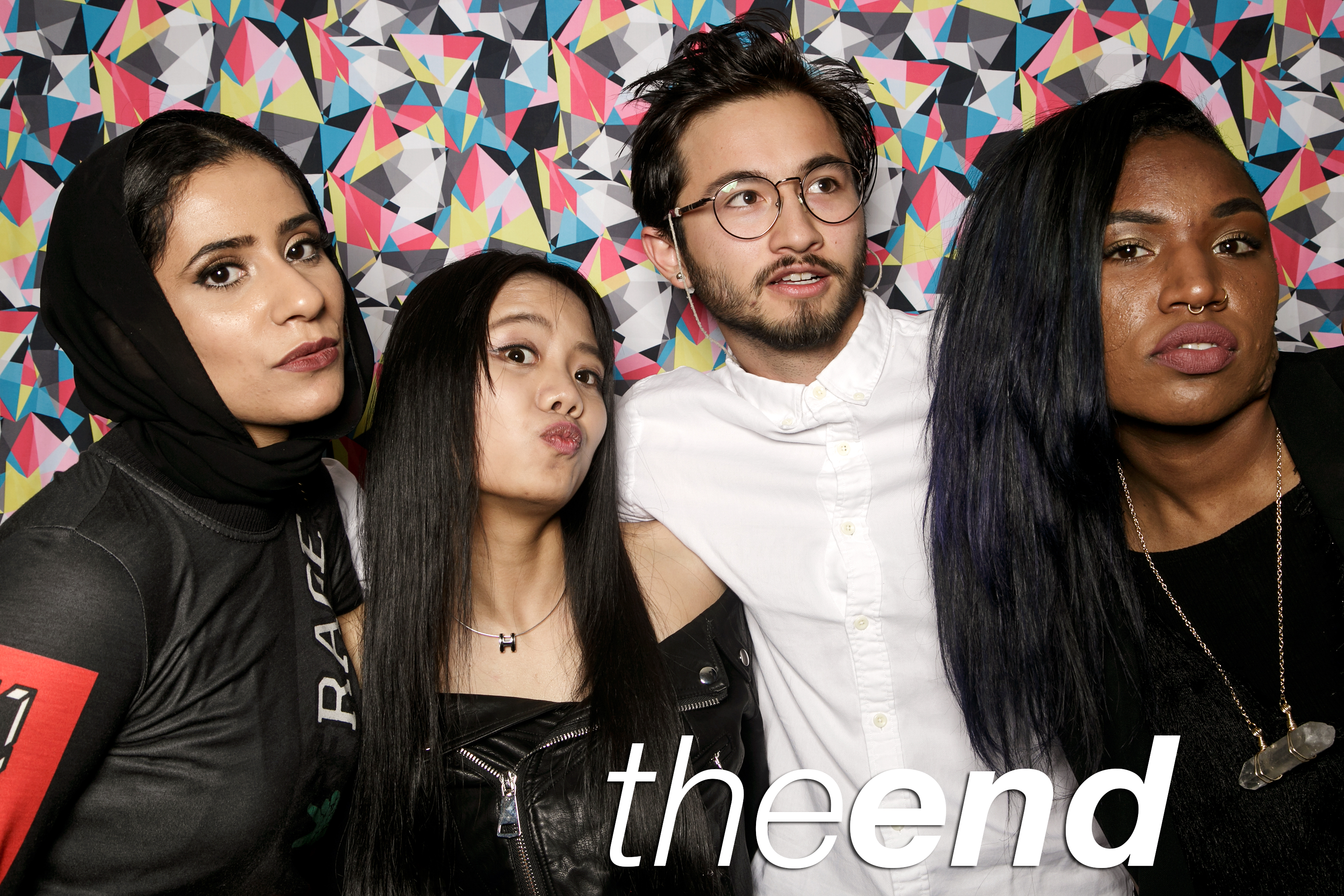 photo booth portraits from saic graduation party the end, may 2016