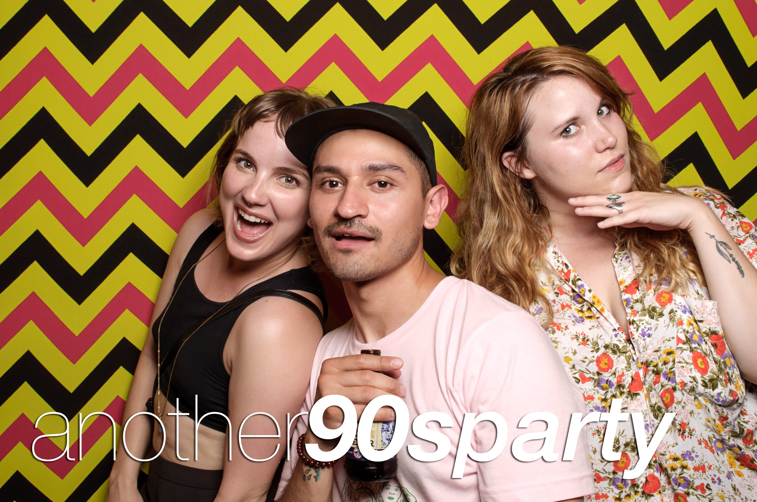 photo booth portraits from another nineties party, june 2016