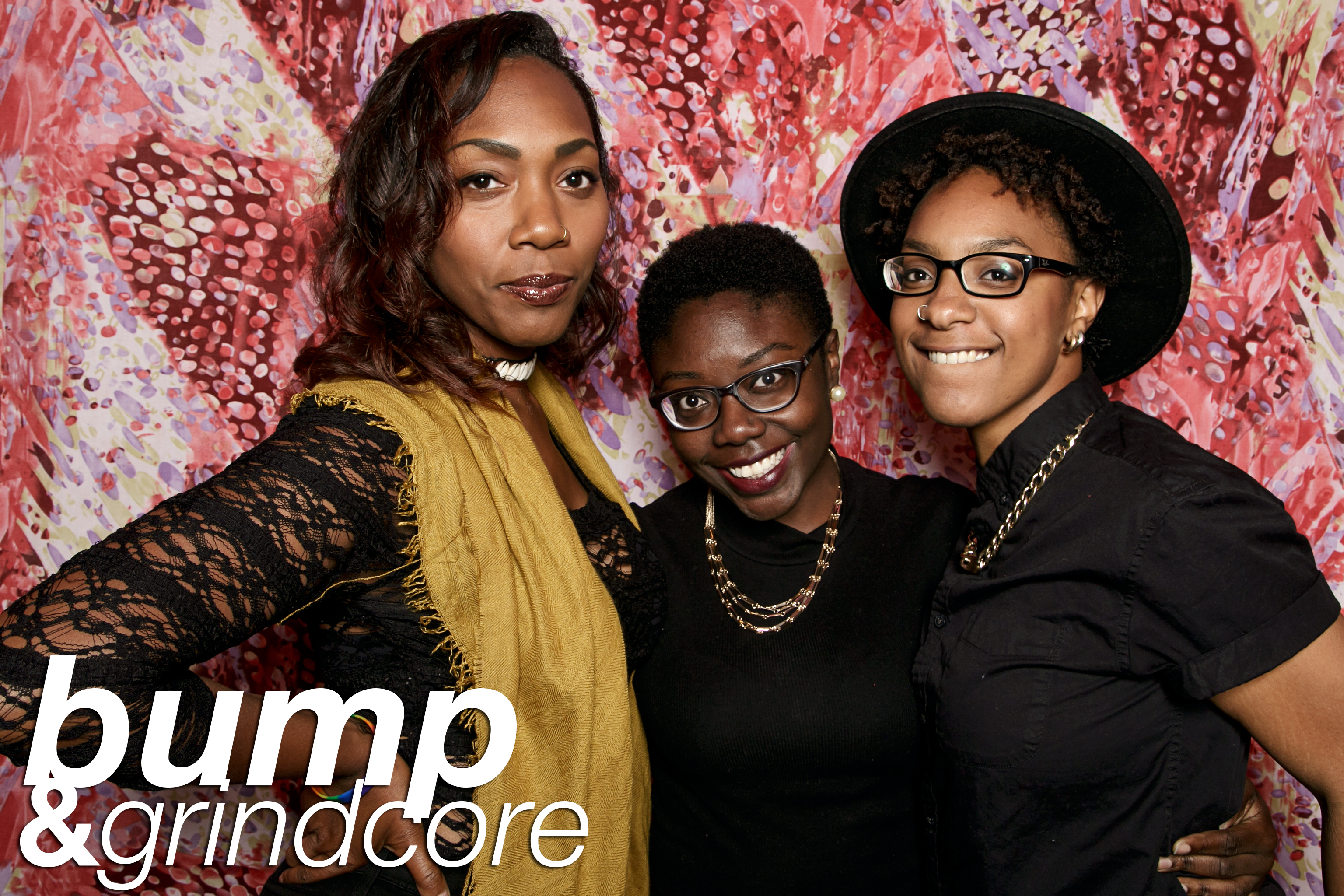 photo booth portraits from Bump and Grindcore's Kanye Tribute at Beauty Bar, September 2016