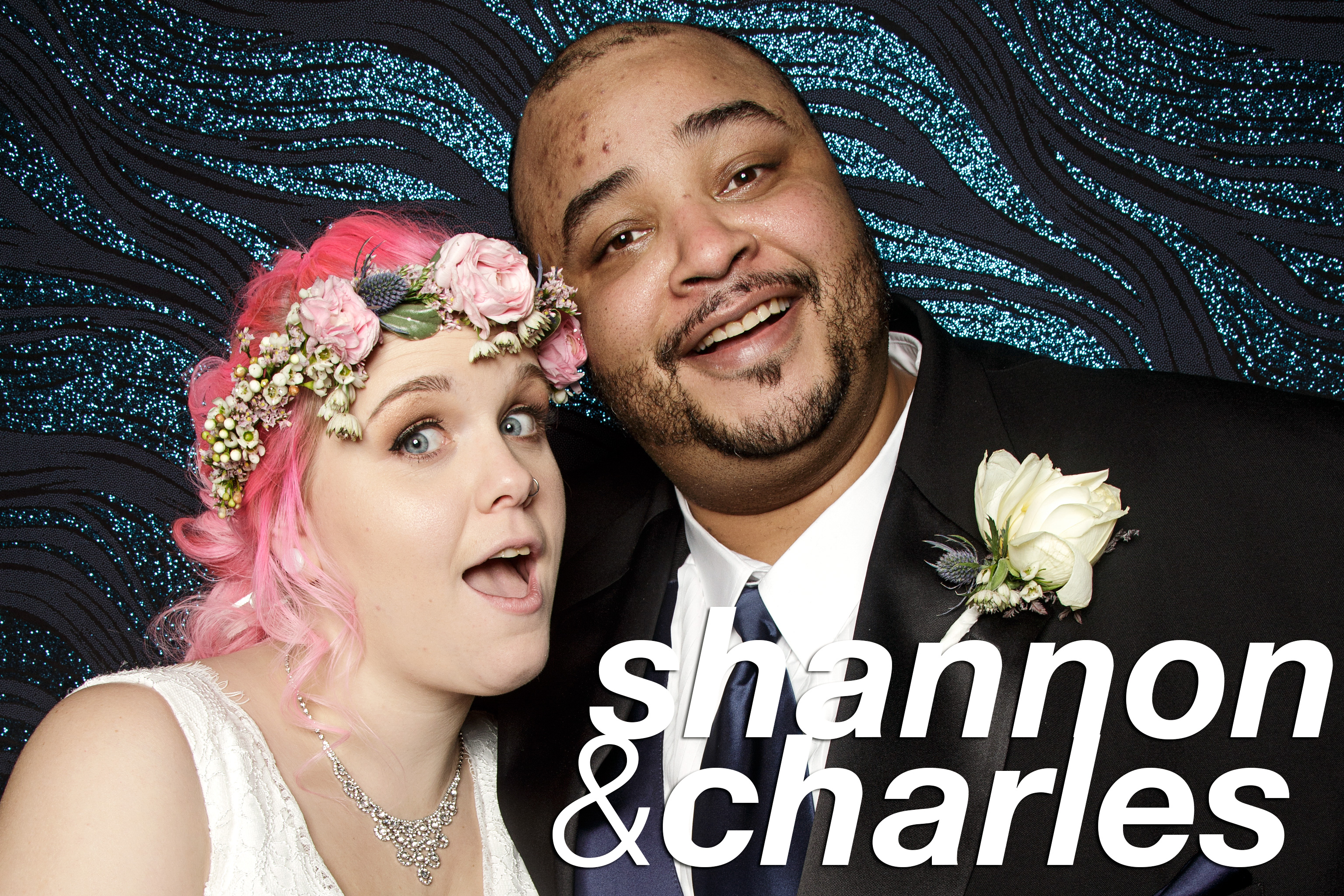 portrait booth photos from shannon and charles chicago wedding, january 2017