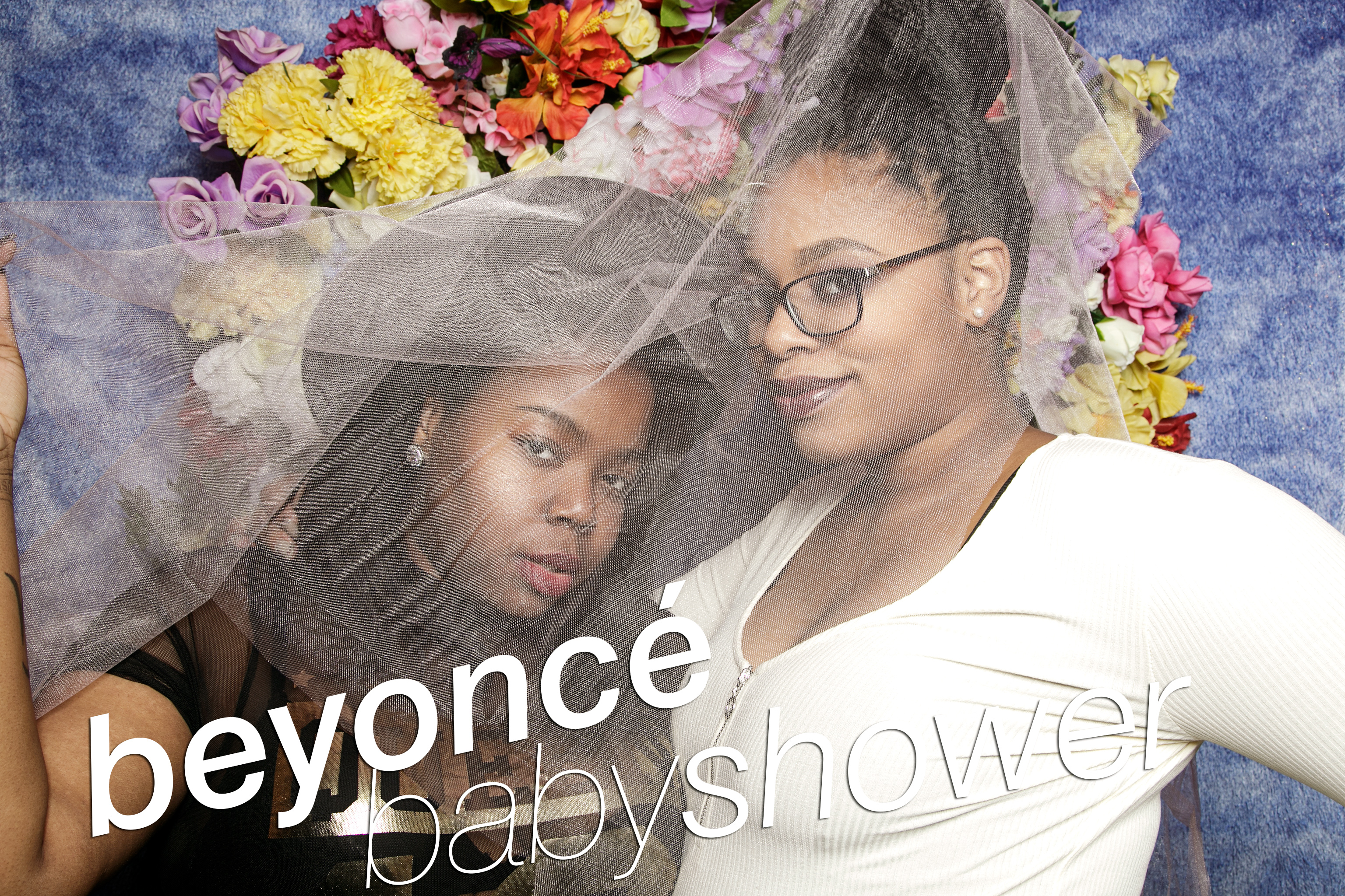 portrait booth photos from a beyonce baby shower, february 2017