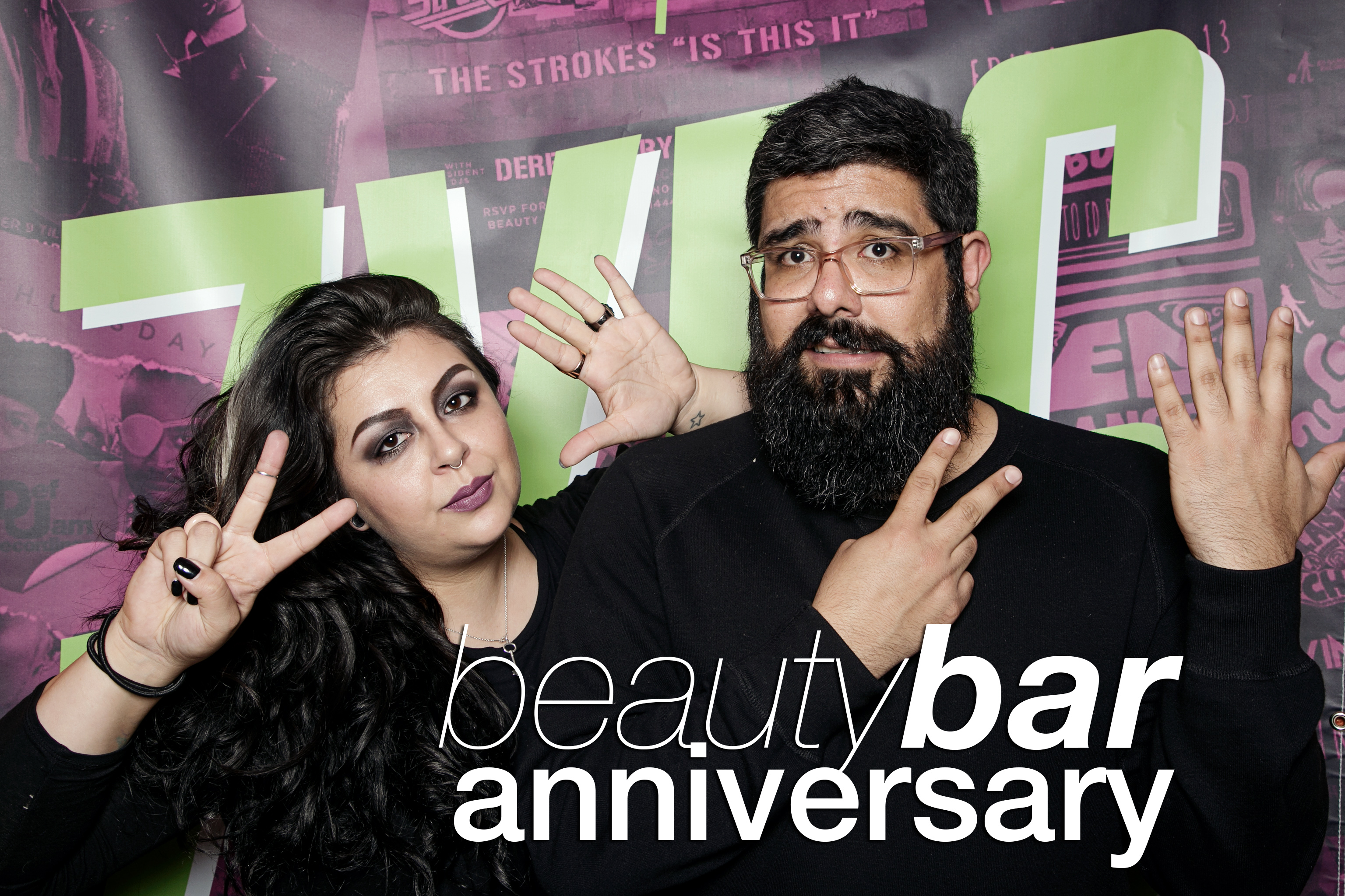 photo booth parties from beauty bar's 7th anniversary, march 2017