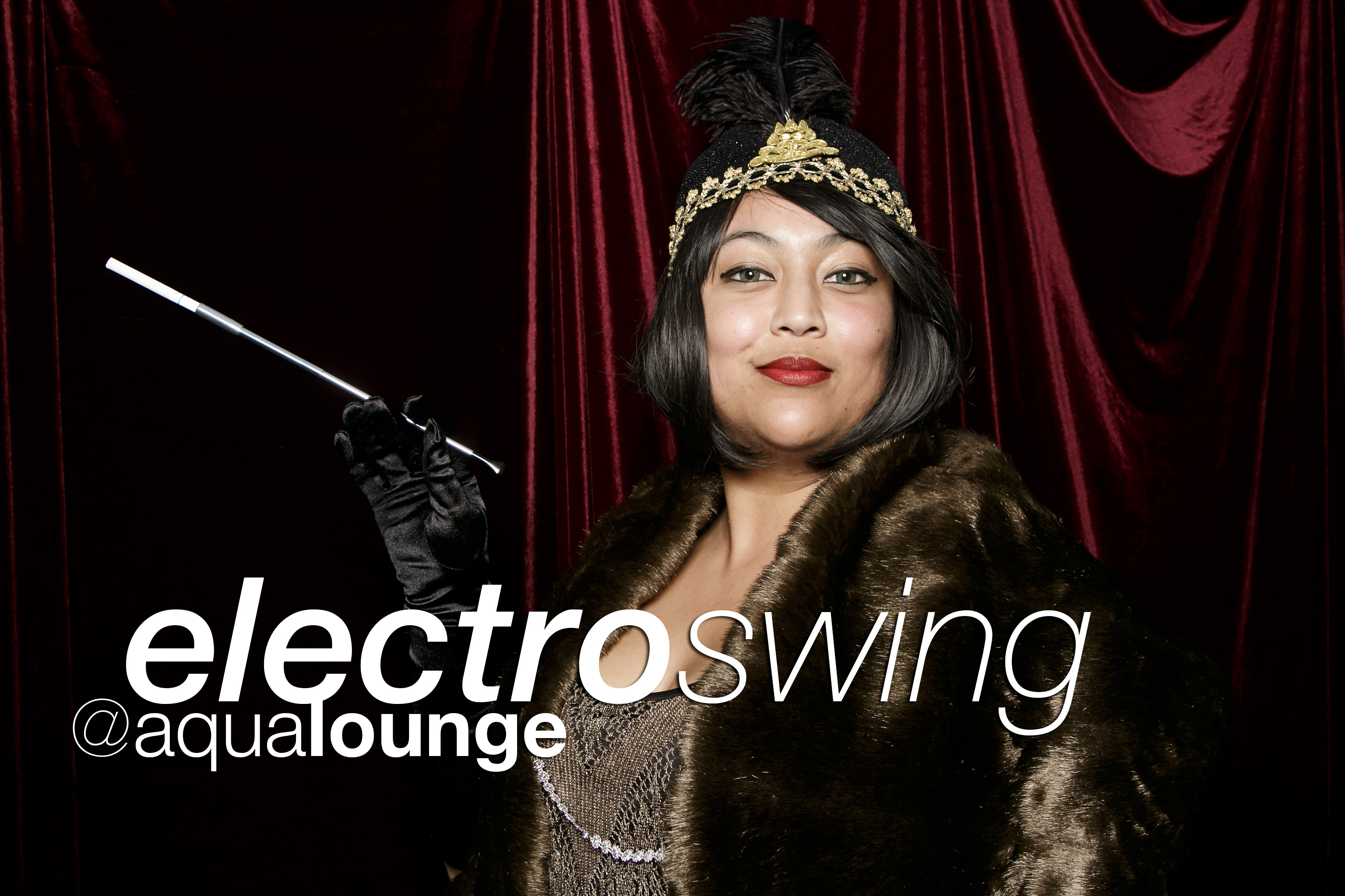 photo booth portraits from electro swing night at aqua lounge in macon, april 2017