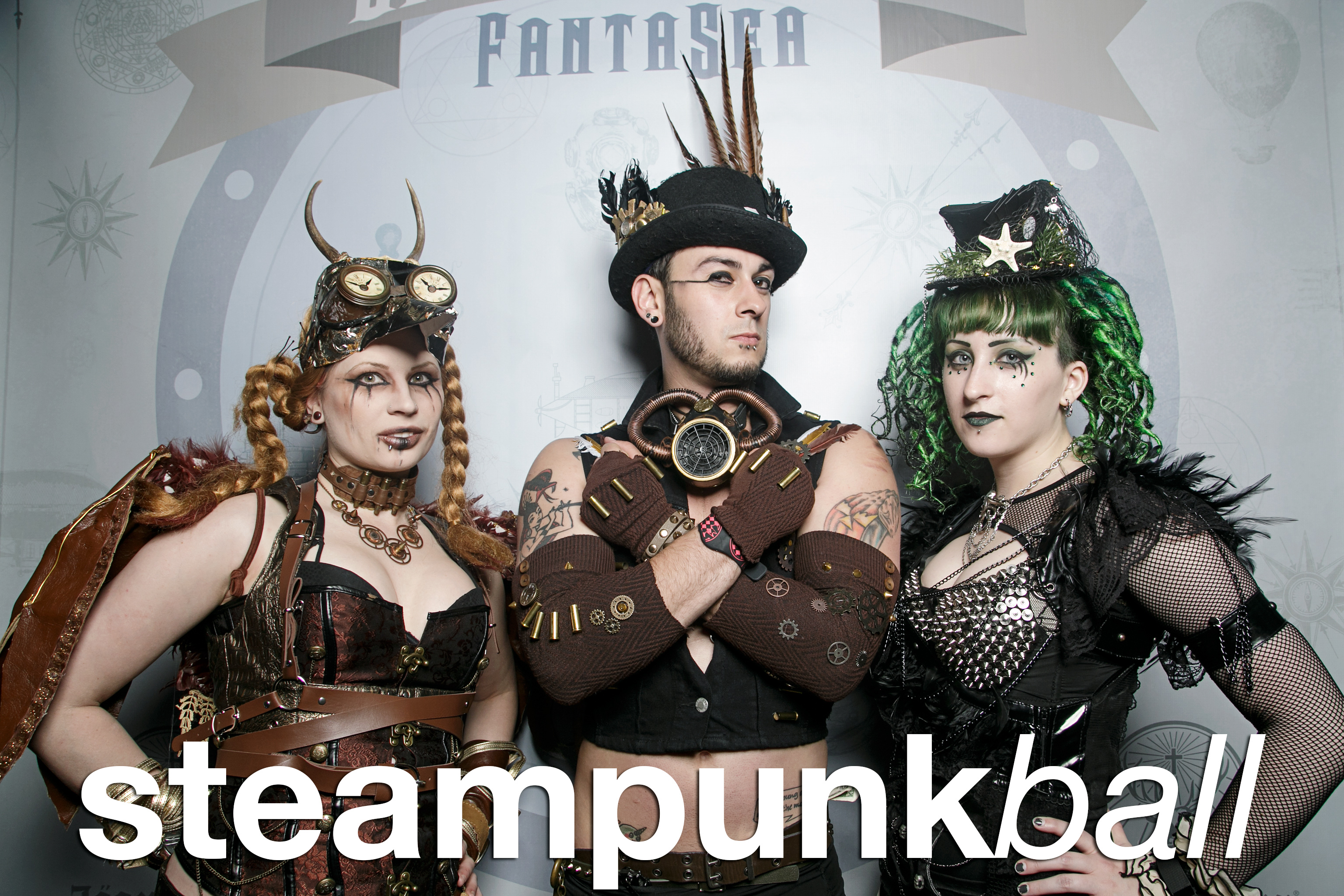 photo booth portraits from the tampa bay steampunk ball, april 2017