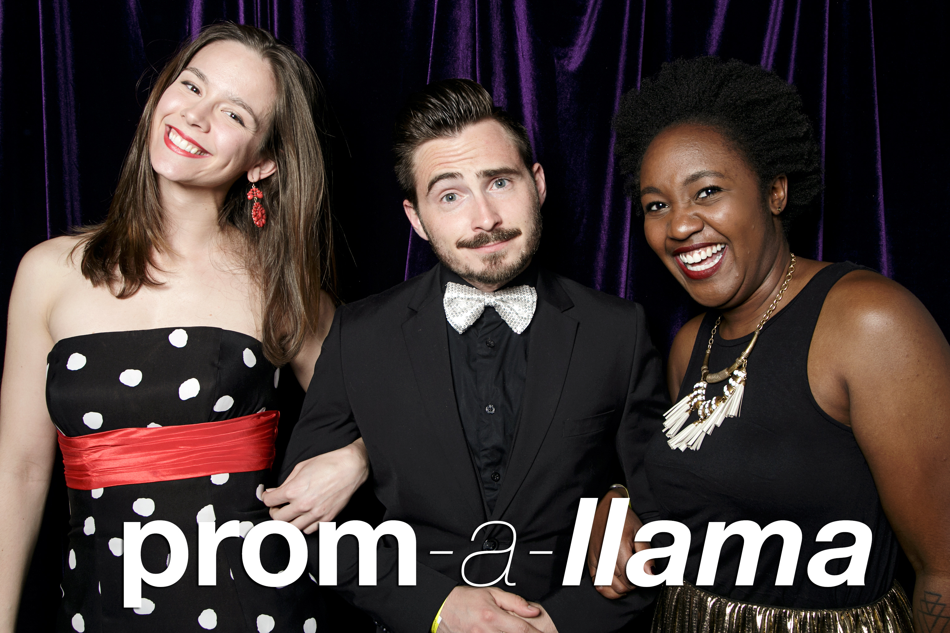 portrait booth photos from prom a llama boom boom at chop shop, may 2017