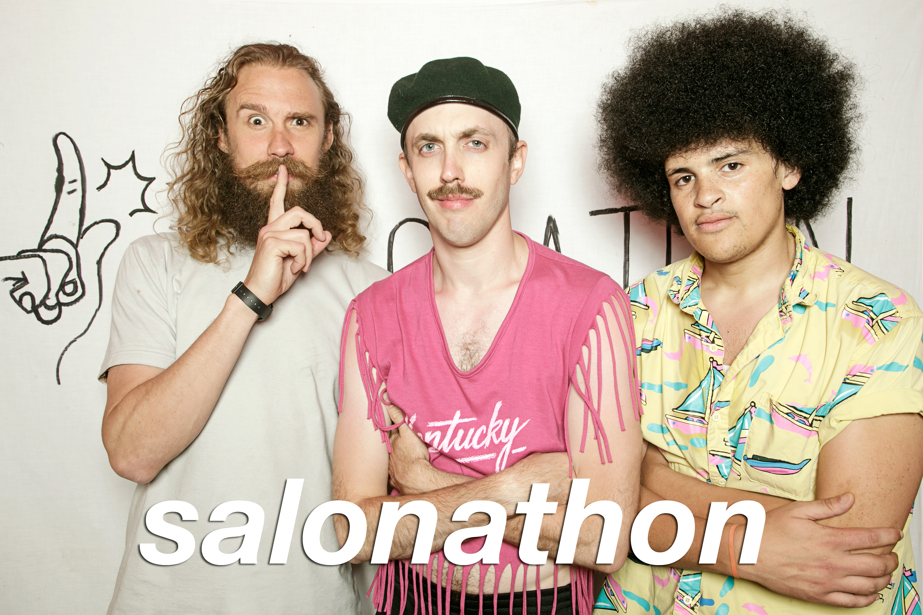 portrait booth photos from salonathons 6th anniversary, july 2017