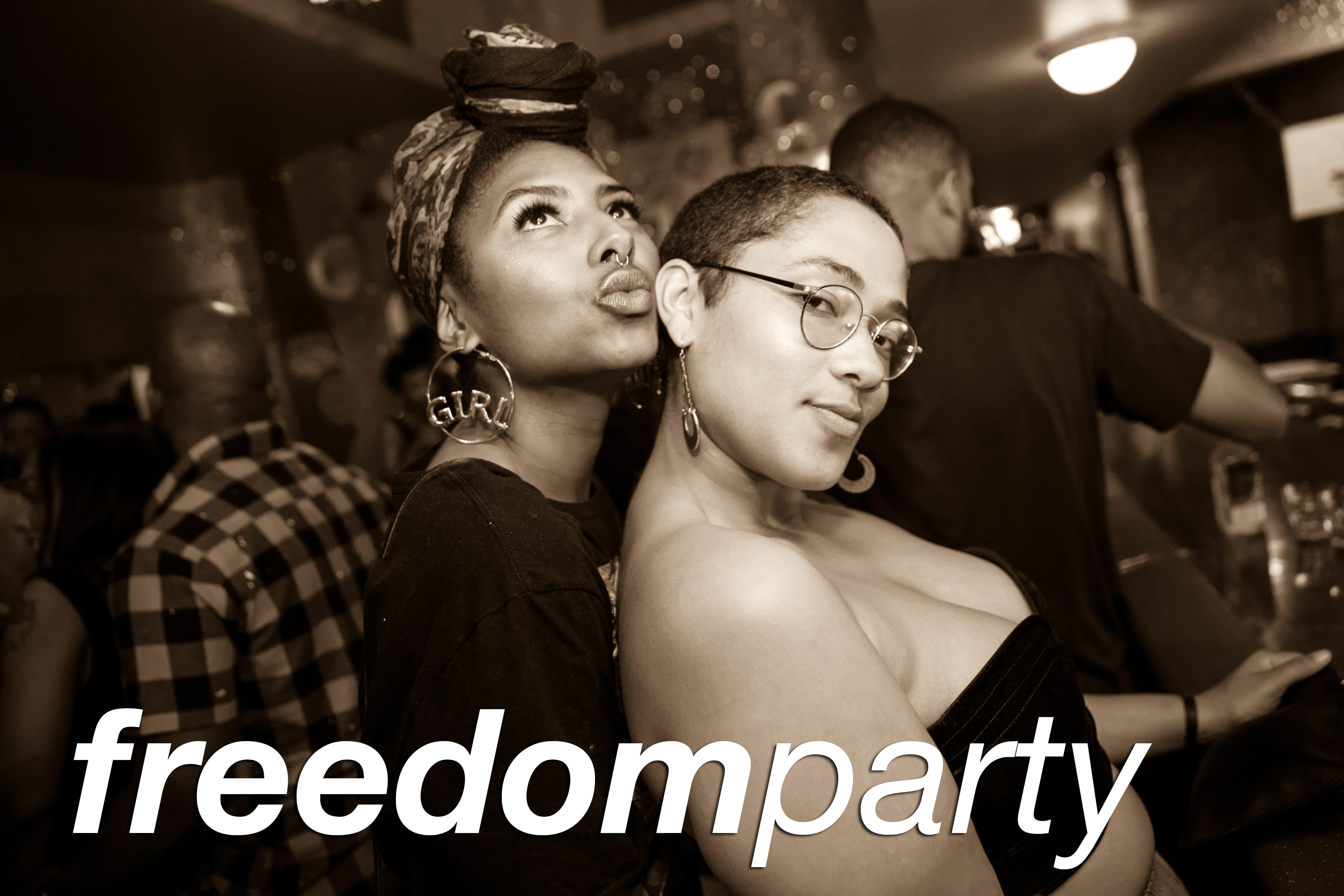 party pics from freedom party at beauty bar, sepetember 2017