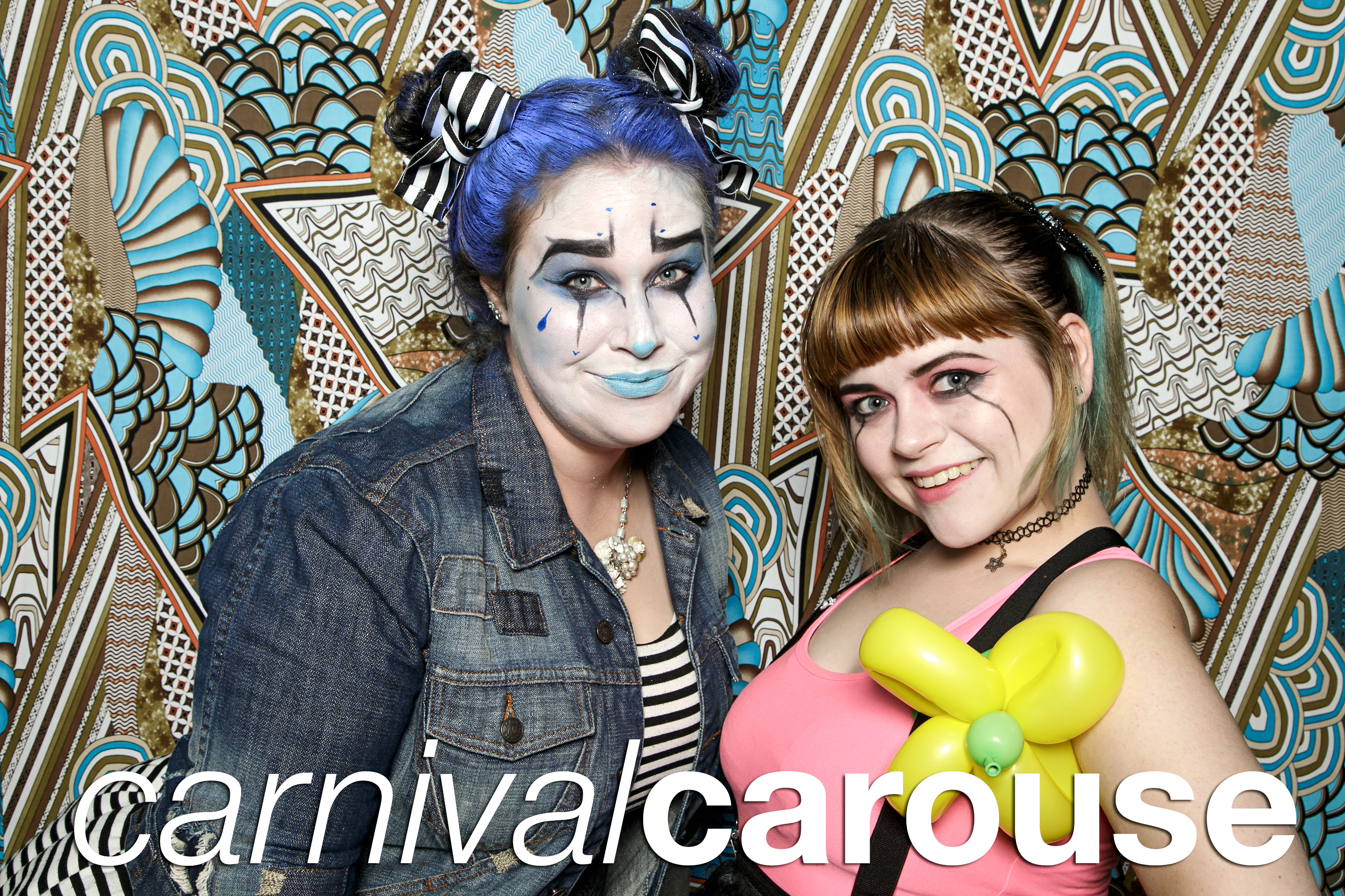 portrait booth photos from carnival carouse at aqua lounge in warner robins, october 2017