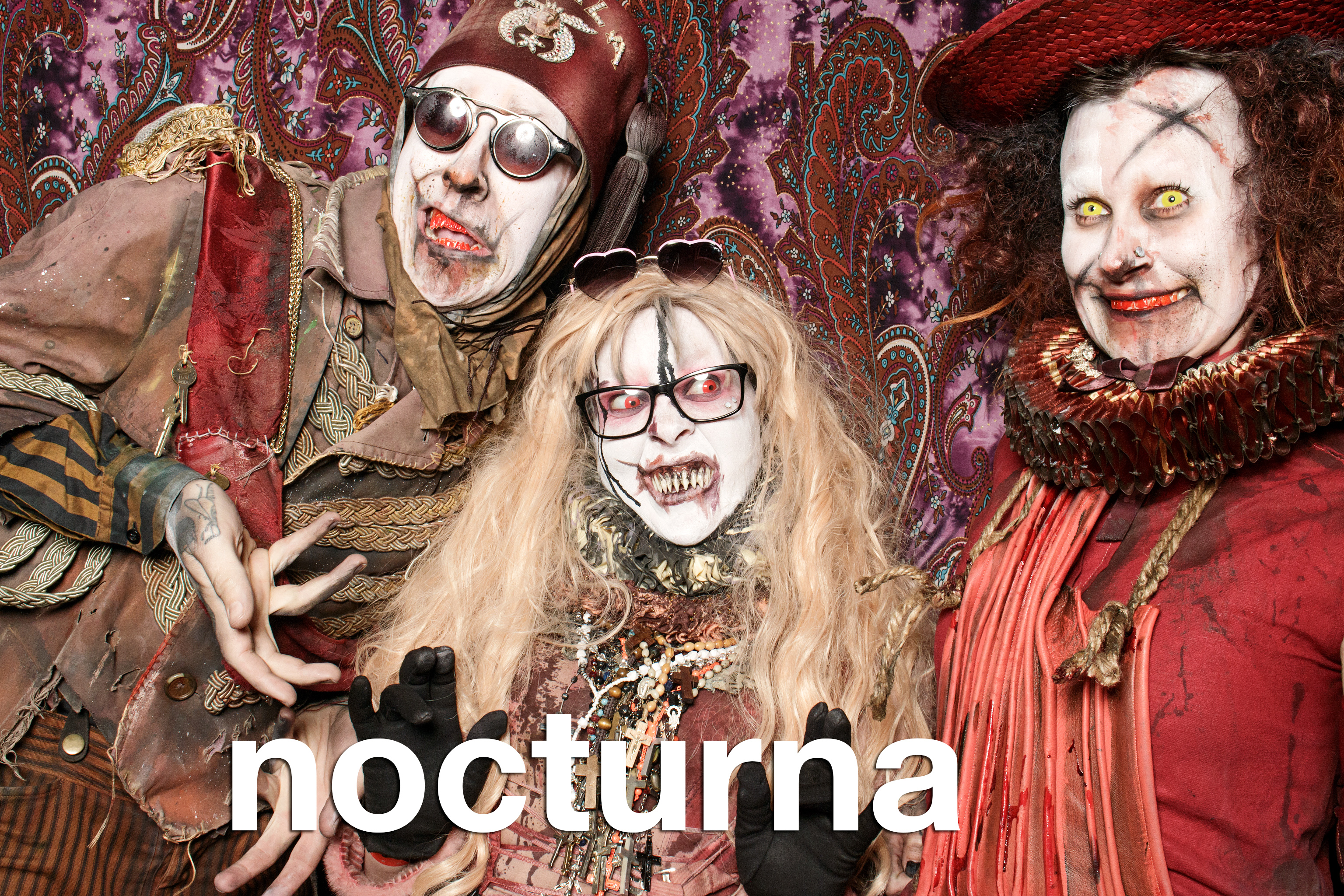 portrait booth photos from nocturna halloween at the metro, october 28 2017