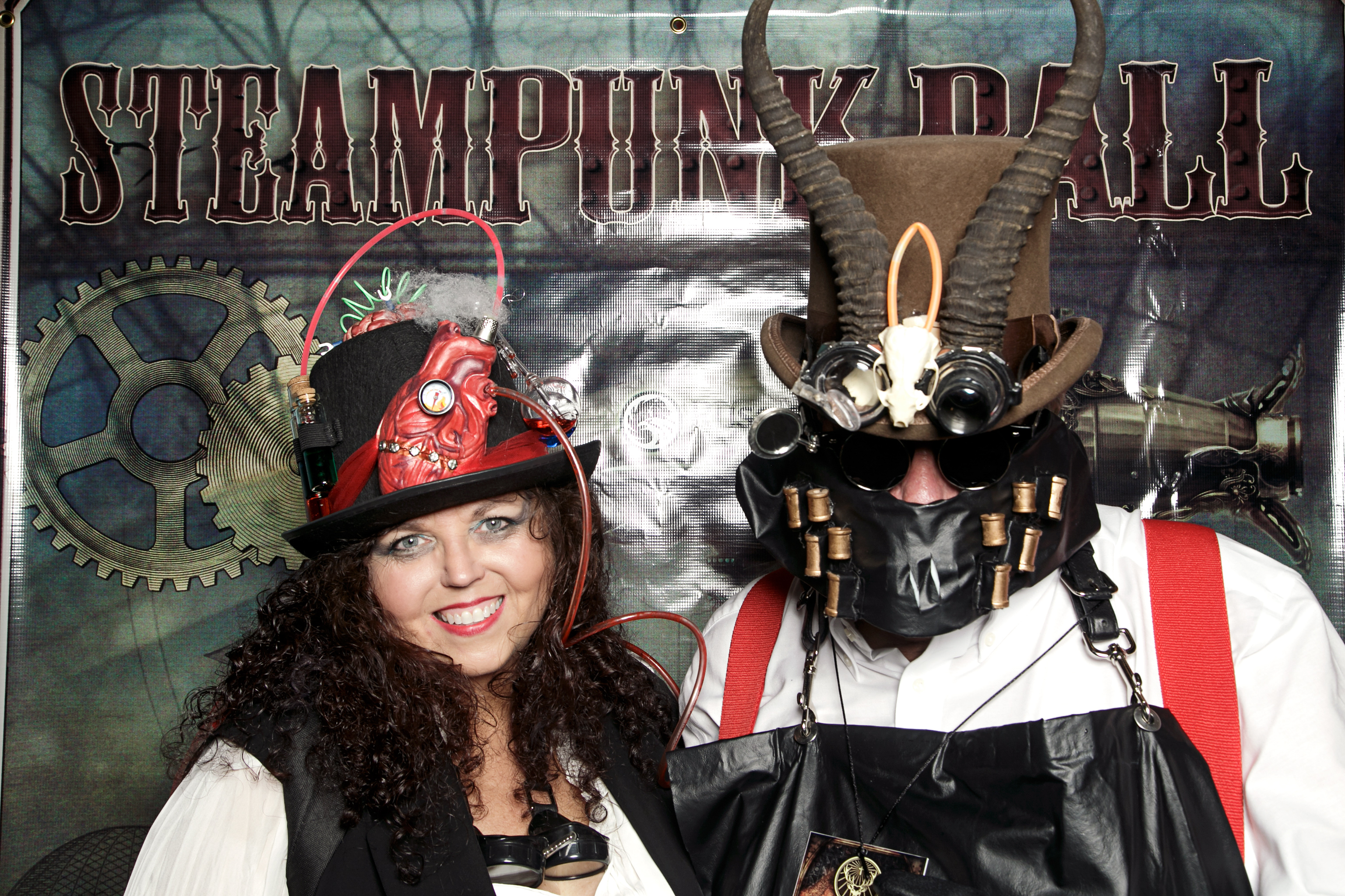 portrait booth photos from the tampa bay steampunk ball, october 2017