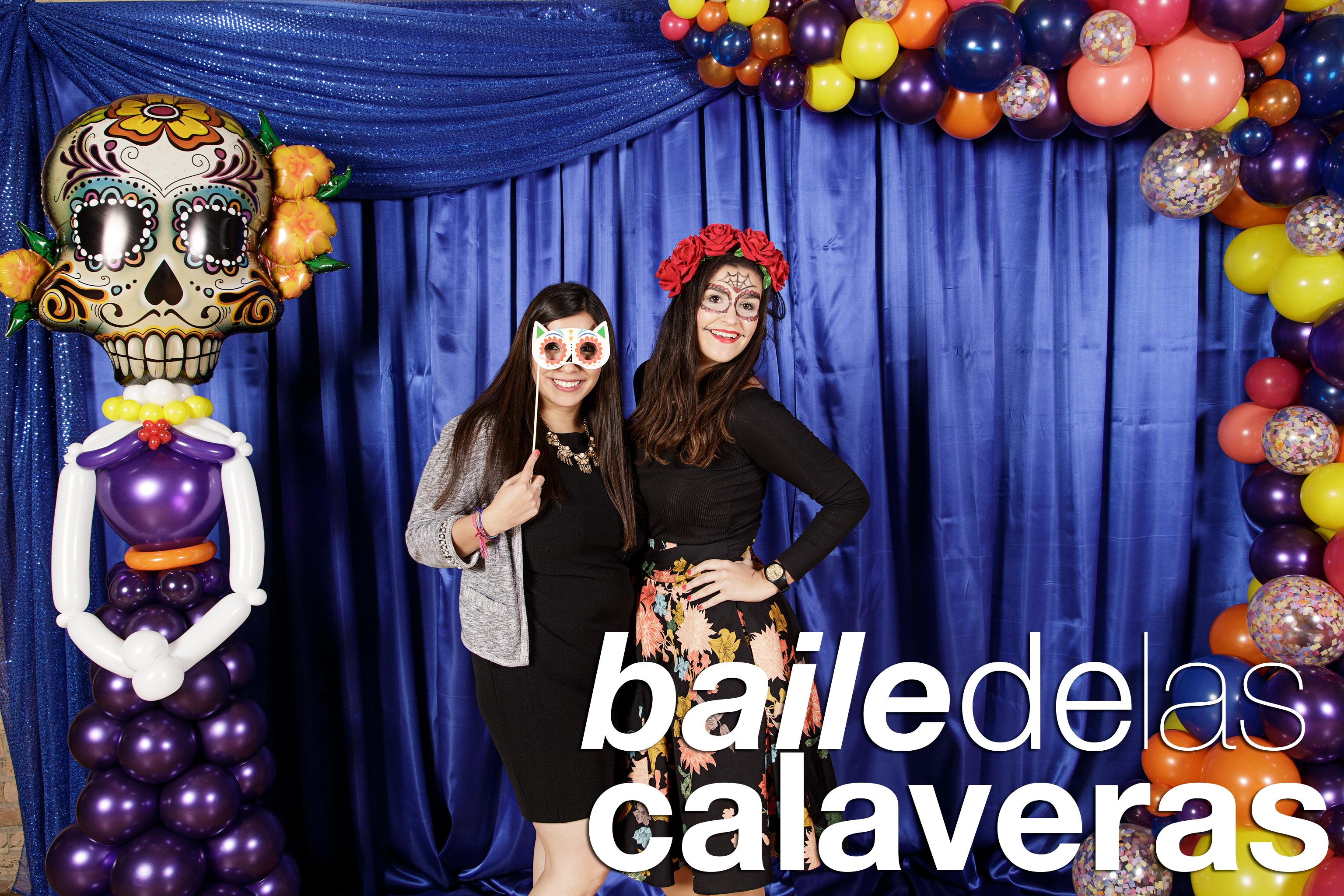 portrait booth photos from baile de las calaveras at skyline lofts, october 2017