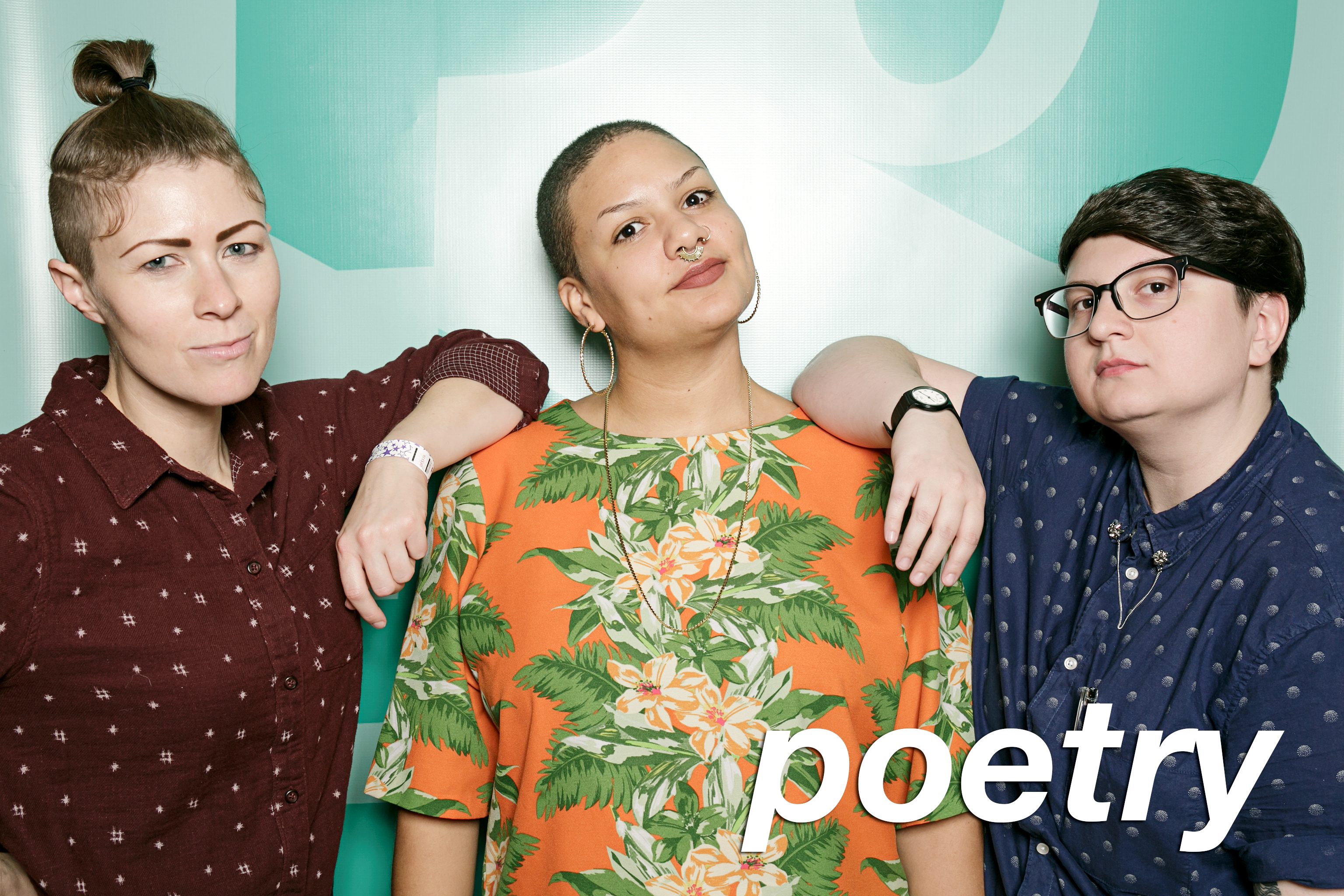 portrait booth photos from poetry foundation's winter party, december 2017