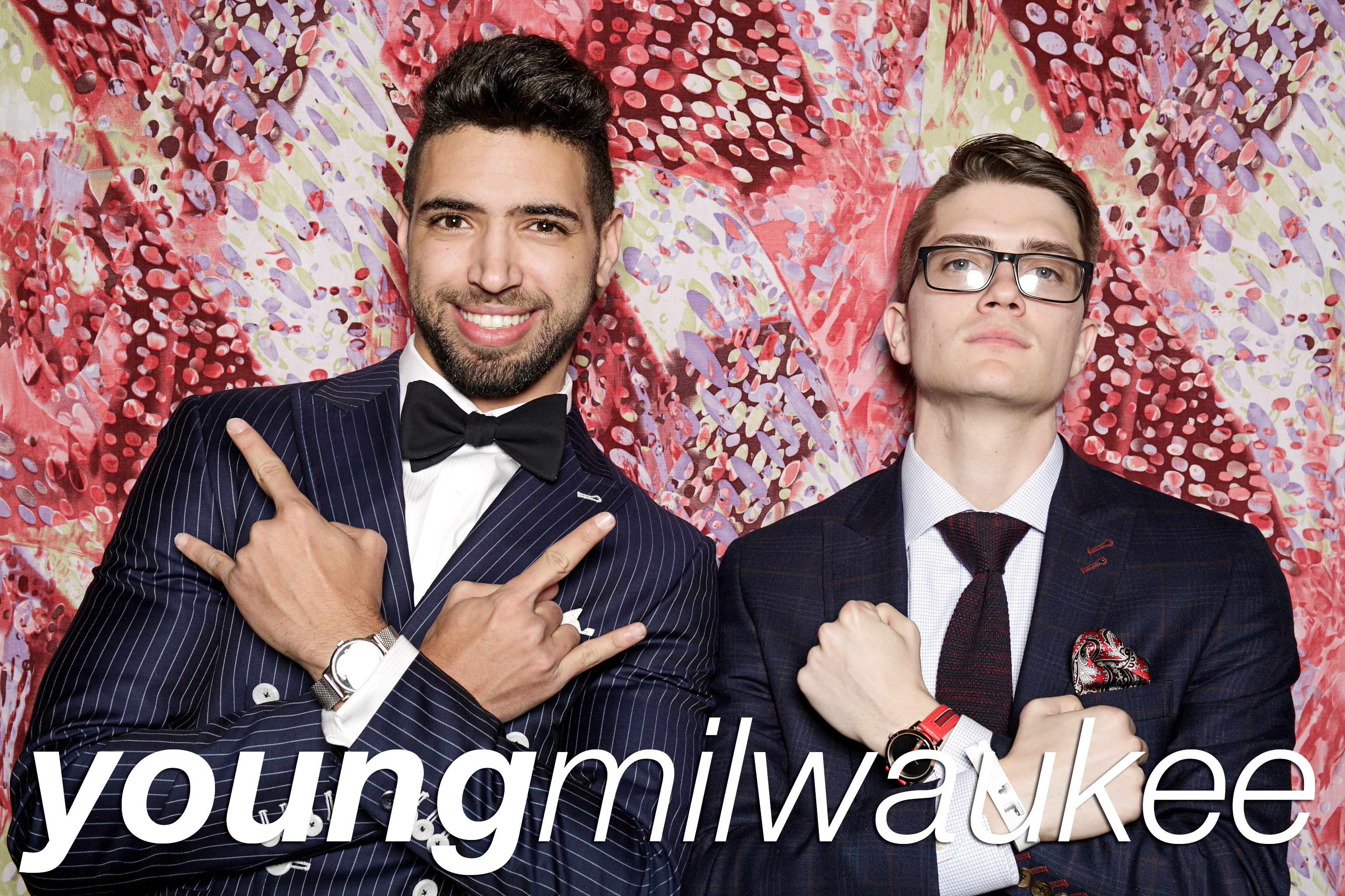 portrait booth photos from the young milwaukee holiday gala, december 2017