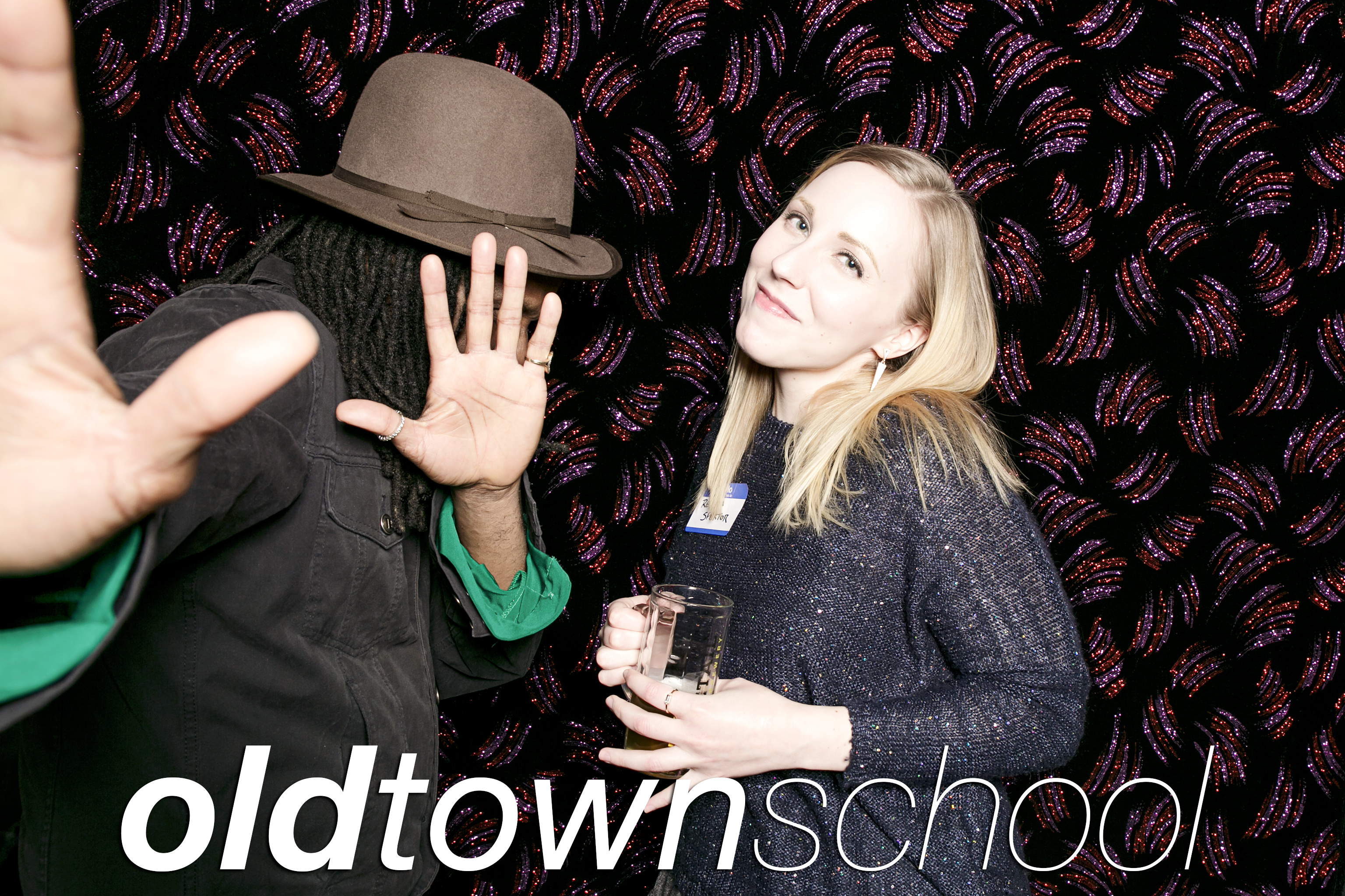 portrait booth photos from the old town school of folk music holiday party, january 2018