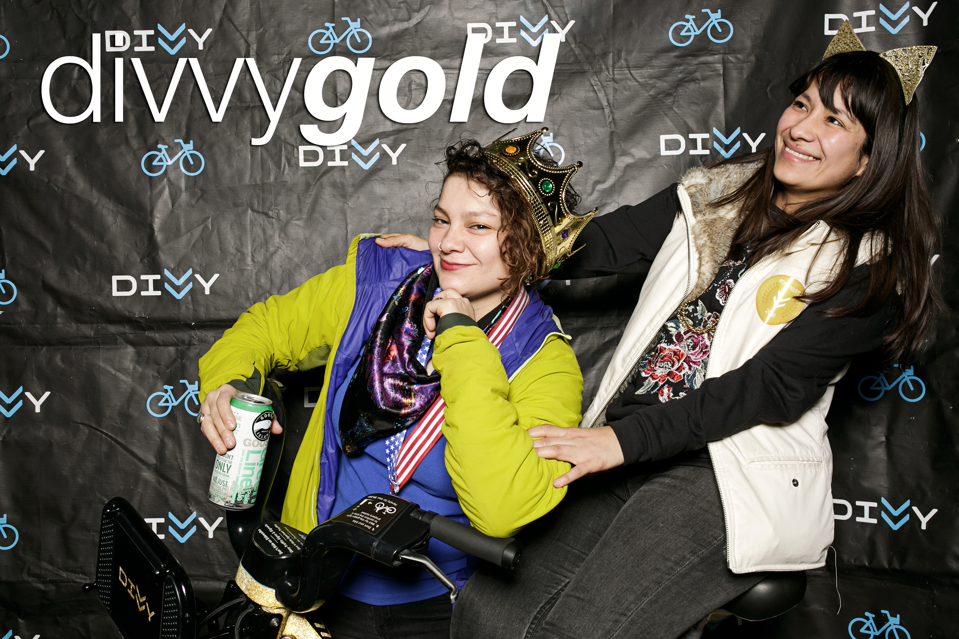 glitterguts photo booth portraits from divvy gold at emporium arcade bar
