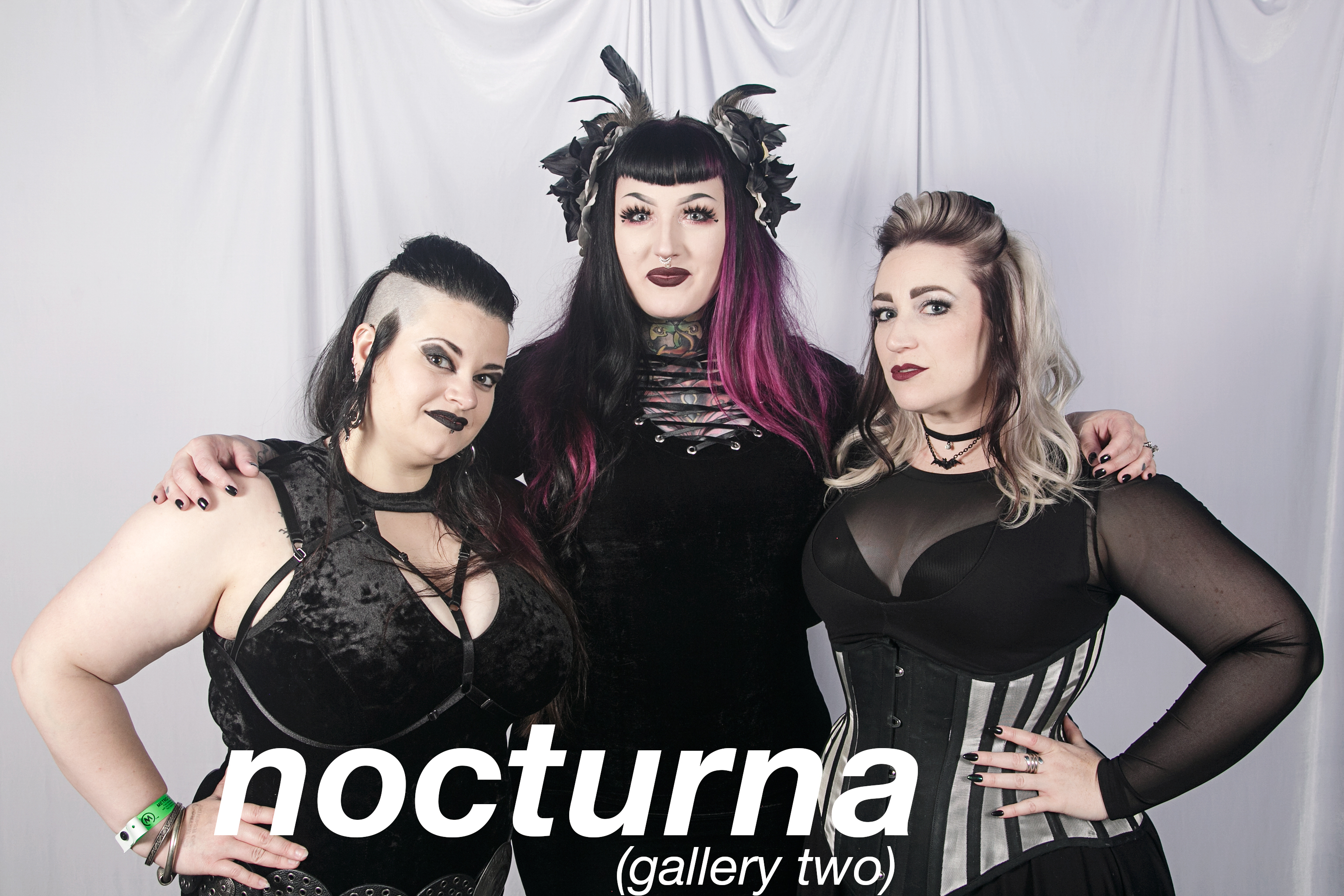 glitterguts photobooth portraits from nocturna at the metro, chicago 2018