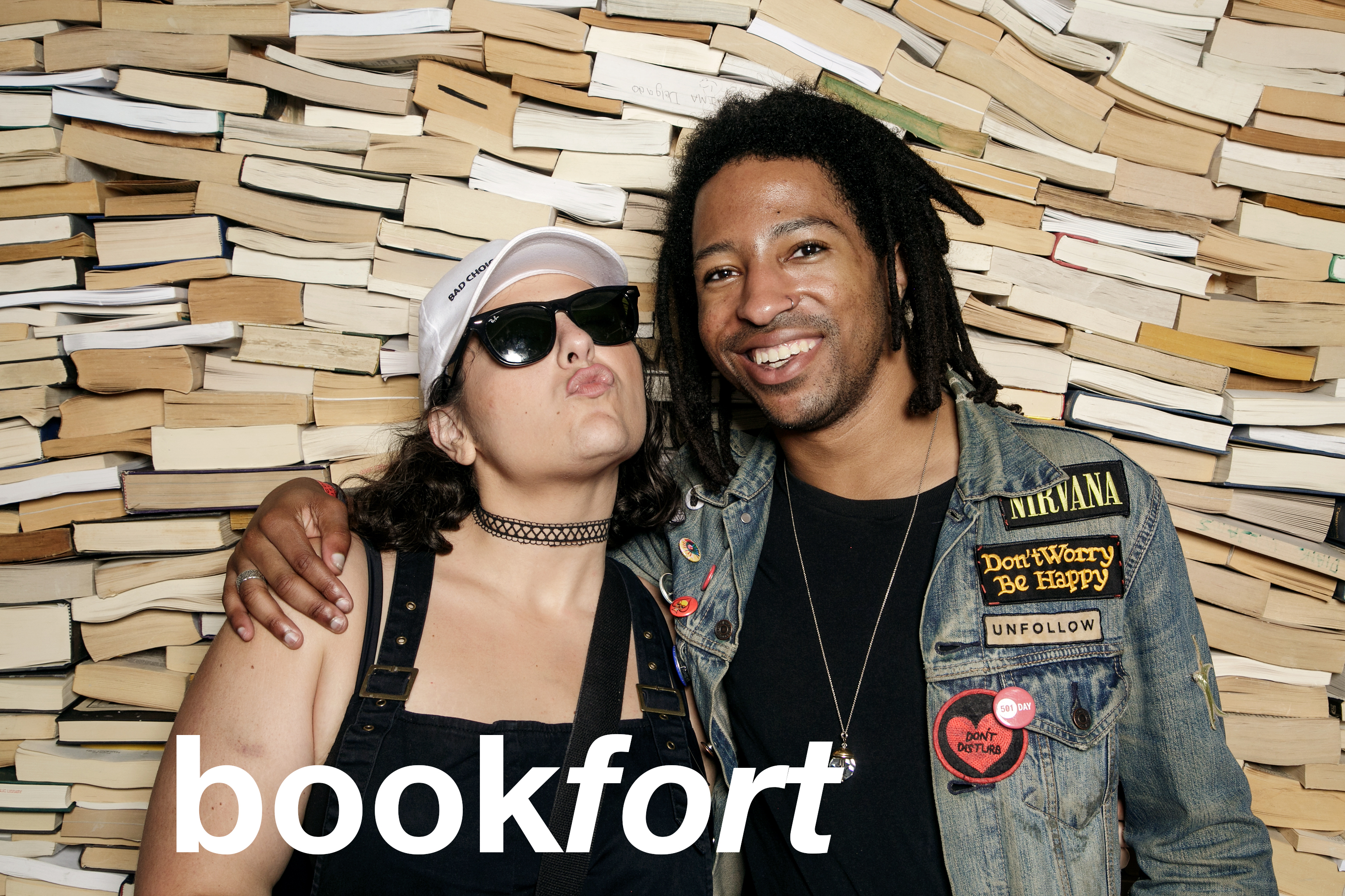 glitterguts photo booth portraits from book fort at pitchfork fest in chicago, july 2018