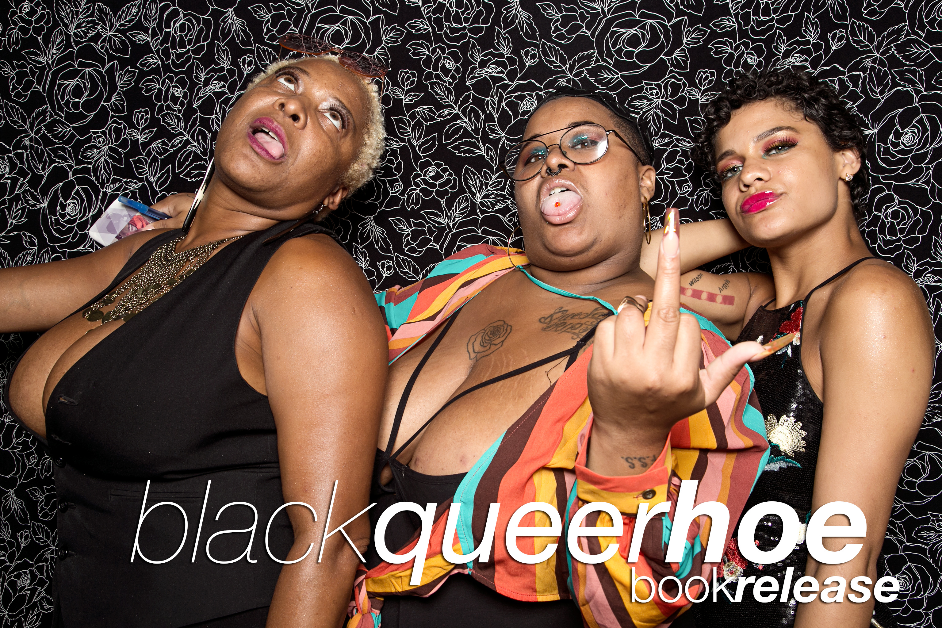 glitterguts photo booth portraits from the black queer hoe book release at east room, chicago 2018