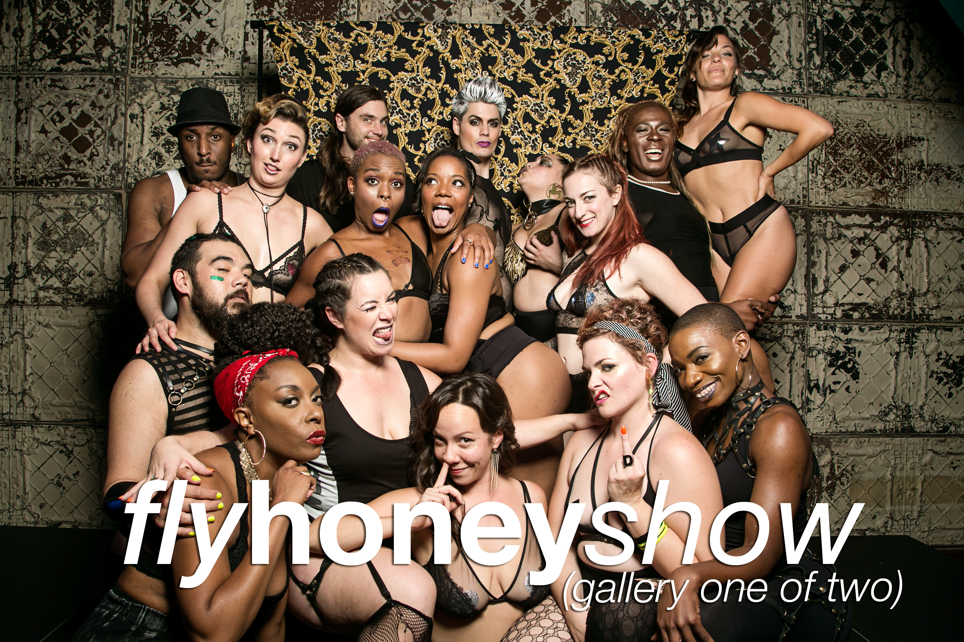 GlitterGuts portrait booth photos from the Fly Honey Show in Chicago, September 1 2018
